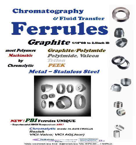 "Ferrules, Graphite Ferrules -ALL Sizes to 2""ID"